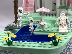 2019-307 - Spa Day (Steve Schar) Tags: divingboard pool spa skeletons skeleton iphonexs iphone minifigure lego project365 sunprairie wisconsin 2019