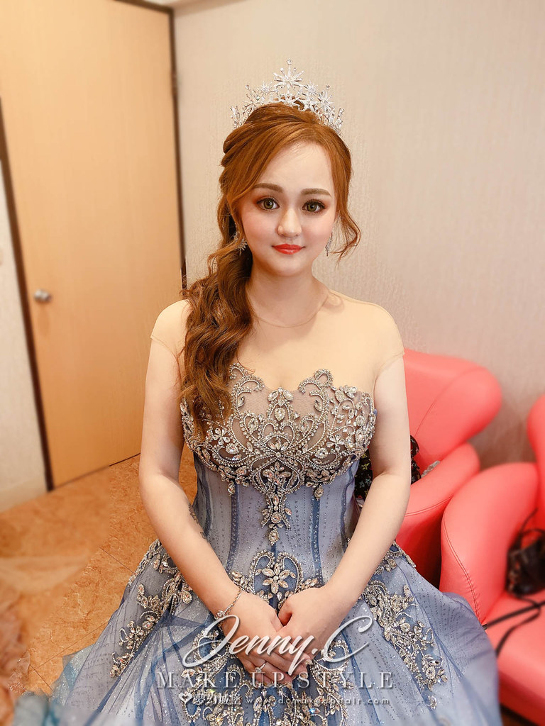 【新秘蓁妮】bride MIMI 結婚造型 / 華麗女神,混血妝容
