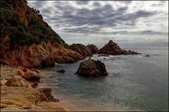 Cala Punta de Santa Anna   Blanes, Catalonia (Flemming J. Gade) Tags: sea rocks beach clouds cliffs sky blanes catalonia