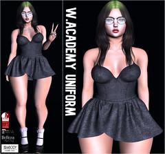 WAU wool top/wool skirt (KoyukiKytori) Tags: secondlife slmarket secondlifemarketplace secondlifefashion avatar avatarfashion koyuki academyuniform uniform mesh 3dgame セカンドライフ