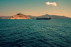 Coasting..... (Dafydd Penguin) Tags: coast coasting cruise cruising ferry liner ship sea water mediterranean aegean saronic gulf salamis island greece leica m10 summicron 35mm f2 asph