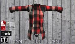 lenny's shirt+panty/red black (KoyukiKytori) Tags: セカンドライフ secondlife secondlifemarketplace slmarket avatar avatarfashion secondlifefashion koyuki mesh 3dgame lennysshirt