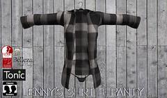 lenny's shirt+panty/black2 (KoyukiKytori) Tags: secondlife slmarket secondlifemarketplace secondlifefashion avatar avatarfashion mesh koyuki lennysshirt 3dgame セカンドライフ