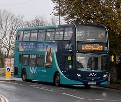 Arriva North East 7554 SN15 LLE (04/11/2019) (CYule Buses) Tags: servicex15 arrivamax arrivabus arrivanortheast enviro400 alexanderdennis alexanderdennisenviro400 sn15lle 7554