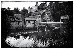 The Forge at Savignac_Ledrier (Missy Jussy) Tags: savignacledrier france forge buildings water waterfalls trees chateau pool mono monochrome blackwhite bw blackandwhite canon canoneos5dmarkii trip travel holiday tourism