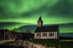 Þingvallakirkja.  jpg.9577 (VidarSig) Tags: þingvellir thingvellir nationalpark þingvallabærinn þingvallakirkja nordlicht norðurljós northenlights