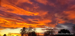 November 3, 2019 - Stunning sunset on the Colorado Front Range. (ThorntonWeather.com)