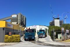 Two trucks (sander_sloots) Tags: trucks perth australia hanson concrete mixer cement factory vrachtauto cementfabriek fabriek mack iveco