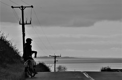 Distant Silloth, England from Powfoot, Scotland over the Solway Firth (Brian Cairns) Tags: ncn7 sutrans dumfries annan thenationalbyway caerlaverock solway cycling brianbcairns scotland