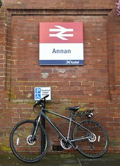 Alight at Annan for part one of this weekend's adventures (Brian Cairns) Tags: ncn7 sutrans dumfries annan thenationalbyway caerlaverock solway cycling brianbcairns scotland