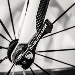 Brand and Logos - [MacroMonday_20191104] (Arranion) Tags: brandandlogos macromondays macro monday american classic wheel bike cycle cycling spokes