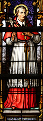 St Charles Borromeo (Lawrence OP) Tags: charlesborromeo saints brussels cathedral stainedglass