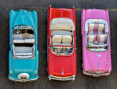 Cuba's Colorful Classic Cars (Charles Patrick Ewing) Tags: new city havana cuba blue pink red car cars landscape fun color colorful nikon beautiful sharp classic retro explore summer art artistic travel decoration best top bright outside outdoor camera day daylight icon iconic fave faves favorite