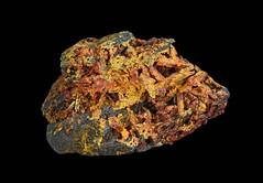 Realgar with Pararealgar (Ron Wolf) Tags: earthscience geology mineralogy pararealgar potosiminingdistrict rwpc realgar crystal macro mineral monoclinic nature ore nevada