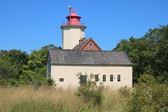 Fehmarn: Leuchtturm Westermarkelsdorf, Landseite (Helgoland01) Tags: fehmarn ostsee insel island deutschland germany schleswigholstein lighthouse leuchtturm balticsea