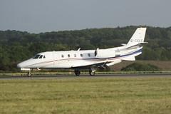 G-CXLS (IndiaEcho) Tags: airport international luton england canon eos aircraft aviation jet bedfordshire aeroplane airfield ltn eggw 1000d cessna citation 560 xls gcxls