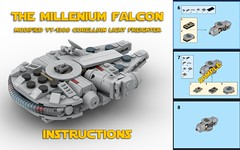 Falcon Instructions (Riskjockey) Tags: lego starwars instructions moc rebrickable microscale