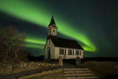 Þingvallakirkja.  jpg.9572 (VidarSig) Tags: þingvellir thingvellir nationalpark þingvallabærinn þingvallakirkja nordlicht norðurljós northenlights