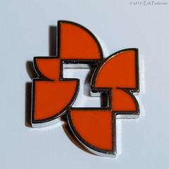 Zovio Lapel Pin (GoodLifeErik) Tags: macromondays brandandlogos macro orange zovio lapelpin logo swag