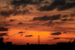 Wind, clouds and some loneliness (Fred Lin) Tags: dusk wind clouds electricitypylon powertower 電塔 黃昏 風 雲