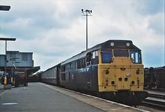 Peterborough 1980 (paul_braybrook) Tags: class31 brush peterborough eastcoastmainline railway trains