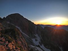 Sunrise, Mt. Tsurugidake (prelude2000) Tags: 富山 立山 剱岳 朝日 日の出 朝焼け japan toyama tateyama mttsurugidake mountain sunrise