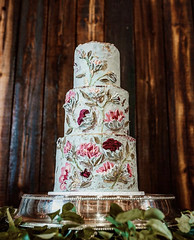 IMG_6290 (backhomebakerytx) Tags: backhomebakery back home bakery texas texasbakery wedding three tier hand painted buttercream icing frosting paintedflowers flowers colorful colorfulwedding gold