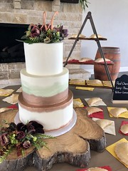 IMG_6171 (backhomebakerytx) Tags: backhomebakery back home bakery texas texasbakery three tier paint brush stroke smooth bride brides wedding cake hand pies