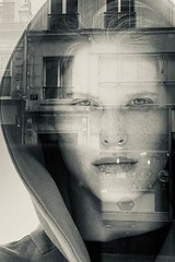 Reflection-7488 (David Swift Photography) Tags: davidswiftphotography portraitsofwomen reflection reflectionthroughwindows mirrorimage parisfrance faces surreal montage