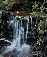 Haslam Park waterfall (Oliver (Wolbadger)) Tags: ricohgr apsc cmos 28mm compact ricoh gr lancashire england uk unitedkingdom waterfall water longexposure manfrotto preston autumn october fall