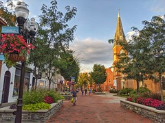 Old Town Winchester Walking Mall (Visit Winchester VA) Tags: winchester virginia old town summer walking mall pedestrian historicdistrict historic church