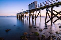 Puget Sound Pier (bdthrallphoto) Tags: sunrise pugetsound longexposure washington pacificnorthwest