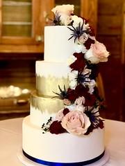 IMG_7719 (backhomebakerytx) Tags: backhomebakery back home bakery cake texasbakery texas wedding tier blue gold four brush stroke flower arrangement