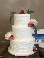 IMG_7714 (backhomebakerytx) Tags: backhomebakery back home bakery cake texasbakery texas wedding three tier bride brides ribbon initial texasbride