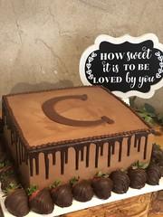 IMG_7717 (backhomebakerytx) Tags: backhomebakery back home bakery cake texasbakery texas groom grooms square fudge drip chocolate covered strawberries initial buttercream