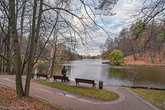 October in Tsaritsyno Park... / Октябрь в Царицыно... (Vladimir Zhdanov) Tags: autumn october landscape nature russia moscow tsaritsyno people park forest wood road sky cloud city architecture foliage grass