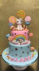 IMG_6313 (backhomebakerytx) Tags: backhomebakery back home bakery texas texasbakery kid birthday unicorn rainbow pastel colors candy cake pops two tier gold little girl