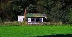 Holiday Hut - Rudyard Lake. (Gerry Hat Trick) Tags: wednesdaywalk walking walk hiking hike rudyardlake cheshire rushtonspencer leek macclesfield hut shed holiday home derelict empty shack shanty hideaway