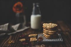 maple leaf cookie (Chapter2 Studio) Tags: stilllife sonya7ii moody darkmood food cookies milk bottle tabletop flower floral red rose chapter2studio