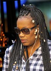 Portrait (D80_545005) (Itzick) Tags: manhattansep2019 nyc candid color colorportrait blackwoman hairstyle streetphotography shades face facialexpression earrings portrait d800 itzick