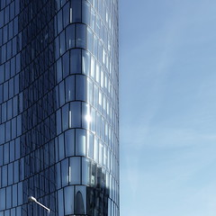 blue & quadro (christikren) Tags: austria architecture abstract building christikren city europe facade glass linescurves panasonic photography reflections structures tower vienna wien blue quadro