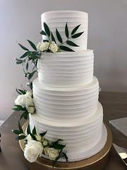 IMG_6160 (backhomebakerytx) Tags: backhomebakery back home bakery texas texasbakery four tier ribbon texture classic wedding cake texaswedding texasbride flower arrangement bride brides