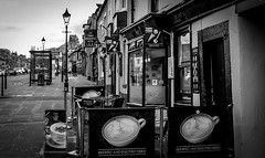 Barnard Castle . (wayman2011) Tags: colinhart fujifilm35mmf2 fujifilmxt1 lightroom5 wayman2011 bw mono rural markettowns street cafes pennines dales teesdale barnardcastle countydurham uk