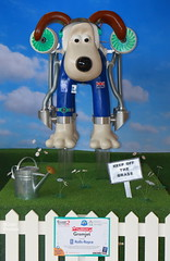 We have lift-off! (Colin Pinchen) Tags: wallace gromit aardman animation nick park claymation shaun sheep morph bristol aerospace museum england colin pinchen rolls royce statue