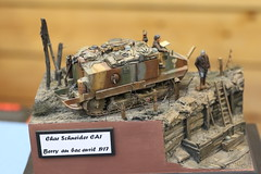 Char schneider - 1/35 (CHRISTOPHE CHAMPAGNE) Tags: 2019 france champagne marne exposition maquette suippes char schneider 135 ca1