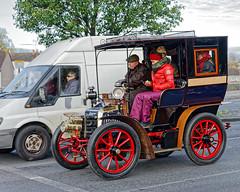 At The Lights (Croydon Clicker) Tags: wheels vehicles riders passengers people road rally veteran classic londonbrighton croydon london surrey nikon nikkor car automobile