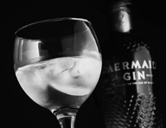 G&T (graemes83) Tags: gin tonic gt mermaid bottle glass ice lime drink alcohol product tilt