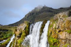 Flowing over the edge (Rico the noob) Tags: dof rock z7 landscape nature water mountains outdoor clouds iceland waterfall travel 2470mmf28s rocks sky published grass 2019 2470mm mountain