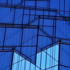Monday Blue (2n2907) Tags: monday blues blue square lines composite
