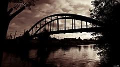 Le pont qui s'effondre (Un jour en France) Tags: pont oise janville contrejour sepia monochrome black noiretblanc noiretblancfrance picardie hautsdefrance ciel cielpaysage canoneos6dmarkii ef1635mmf28liiusm